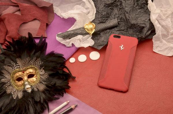 Кожаный чехол Ferrari для iPhone 6 Plus «Энцо»