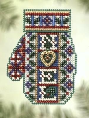 Набор для вышивания Mill Hill Рождественское сердечко