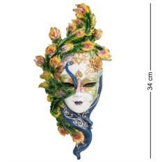 Венецианская маска Павлин (цвет — желто-зеленый)