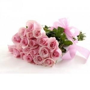 Букет 25 розовых роз, 90см