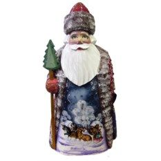 Игрушка из дерева Дед Мороз, высота 20 см
