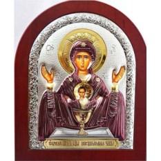 Икона Божьей Матери в серебряном окладе Неупиваемая чаша
