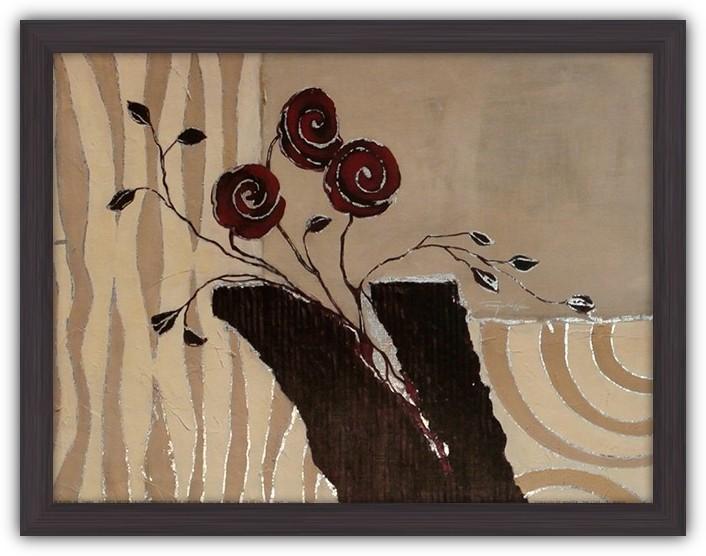 Картина (репродукция) Они прекрасны (Три красных розы)