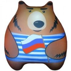Игрушка-подушка антистресс Мишаня (цвет: полосатый)