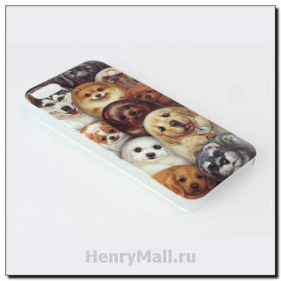 Чехол-крышка для iPhone'5 «Собачки Генри»