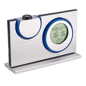 Проекционные часы синего цвета