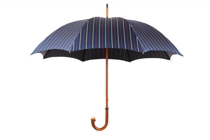 Зонт Mario Talarico, синий с желтыми полосками