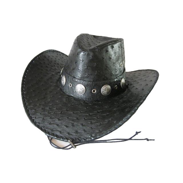 Шляпа из натуральной кожи