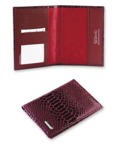 Обложка для паспорта, кожа бордовая. S.QUIRE