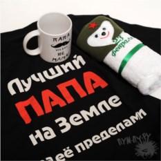 Набор Дорогому папе из футболки, кружки, полотенца