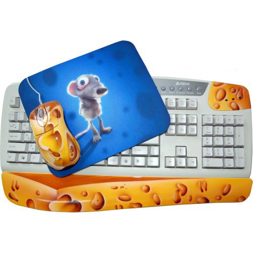 Клавиатура, мышь, коврик «Сыр»