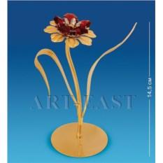 Фигурка с кристаллами Swarovski Цветок с двумя листочками