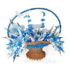 Букет из конфет Голубая мечта