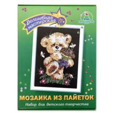 Мозаика из пайеток «Мишка»
