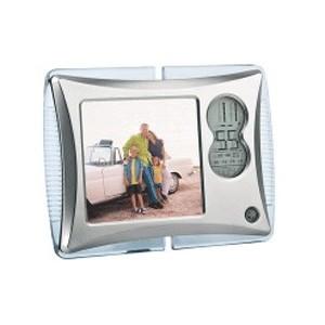Рамка для фотографии с часами и датой