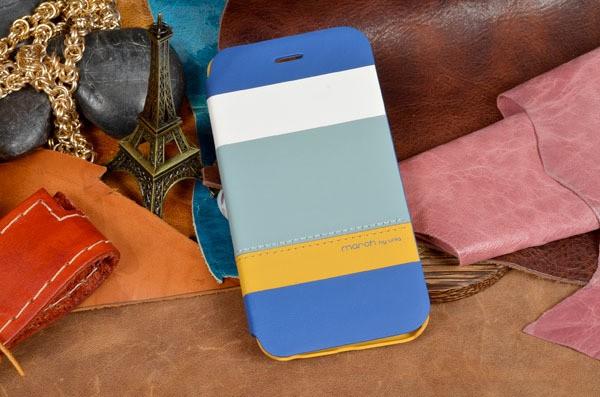 Кожаный чехол-книжка «Морской бриз» для iPhone 6S / 6