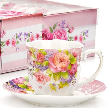 Фарфоровый кофейный набор (12 предметов) Lorain