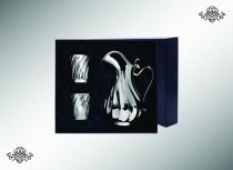 Серебряный набор Кувшин с крышкой Торче и 2 бокала