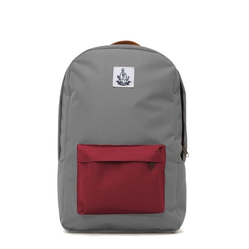 Рюкзак Якорь: Плот III ранга, серый, бордовый карман