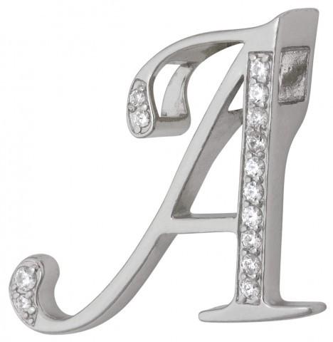 Подвеска в виде буквы А, серебро