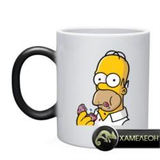 Кружка-хамелеон Гомер с пончиком