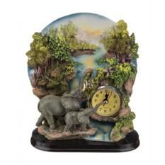 Настольные кварцевые часы с фигурками слонов Chaozhou