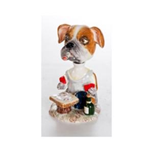 Керамическая статуэтка «Собака-игрок»