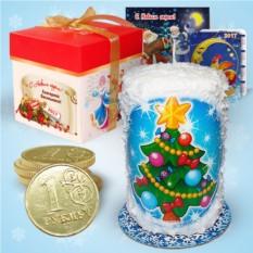 Набор с новогодней свечой «Лесная красавица»