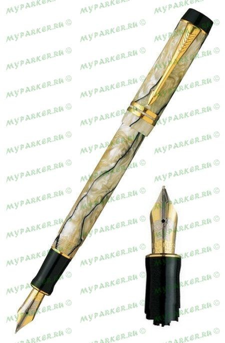 Перьевая ручка Parker Duofold Centennial Pearl and Black