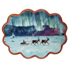 Панно из каменной крошки на репродукции Северное сияние