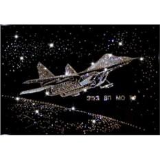 Картина с кристаллами Swarovski Истребитель СУ-27