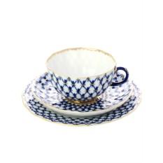 3-х предметный чайный комплект Кобальтовая сетка