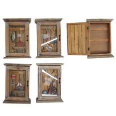 Настенная ключница с оригинальным наполнением фасада