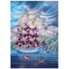 Картина с кристаллами Swarovski Корабль любви