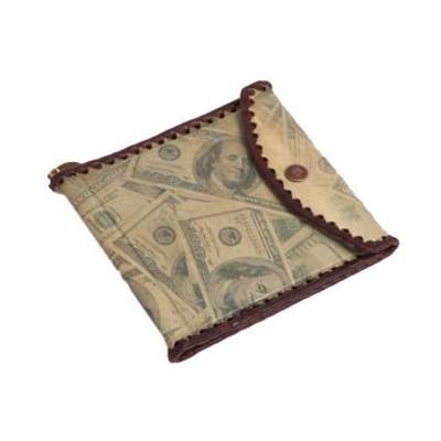 Зажим для денег из натуральной кожи «Доллар»