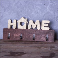 Настенная деревянная ключница Home