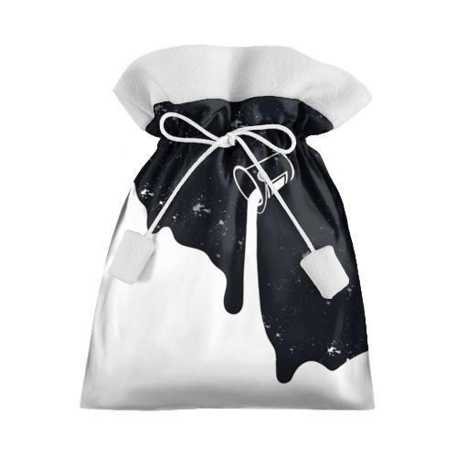 Новогодний 3D мешок Черный-белый