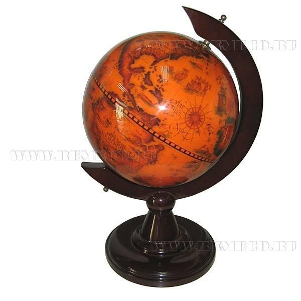 Подарочный глобус, высота 39 см