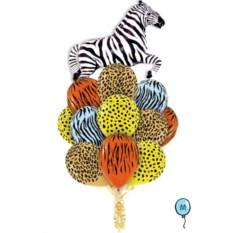 Букет шаров Сафари - Зебра