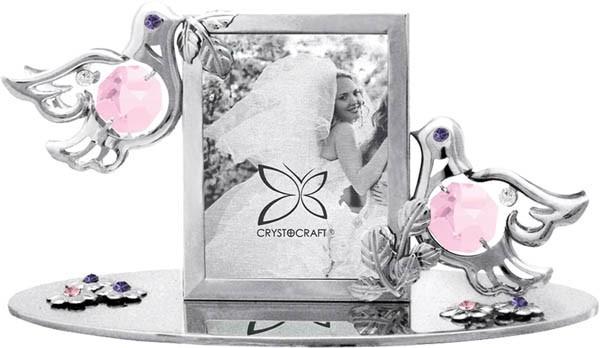 Фоторамка Свадебные голуби, с кристаллами