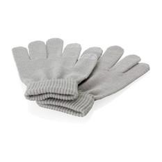 Перчатки для сенсорного экрана, серые, размер s/m, серые