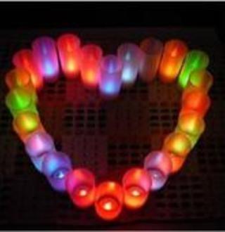 Led-свеча разноцветные диоды