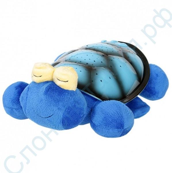 Музыкальный проектор Черепаха синяя с USB-шнуром