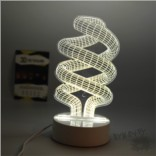 3D лампа с режимом изменения цвета «Спираль»