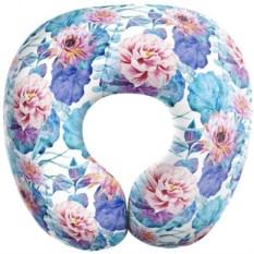 Подушка-антистресс для путешествий Цветы на воде