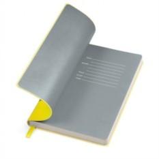 Желтый бизнес-блокнот А5 Funky с серым форзацем