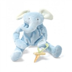 Комфортер и держатель для соски Голубой слоник