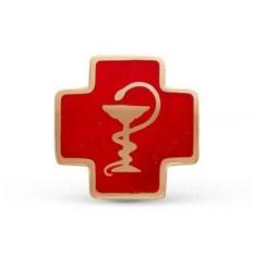 Медицинский значок (позолоченное серебро)