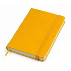 Желтый в клетку бизнес-блокнот A6+ Casual