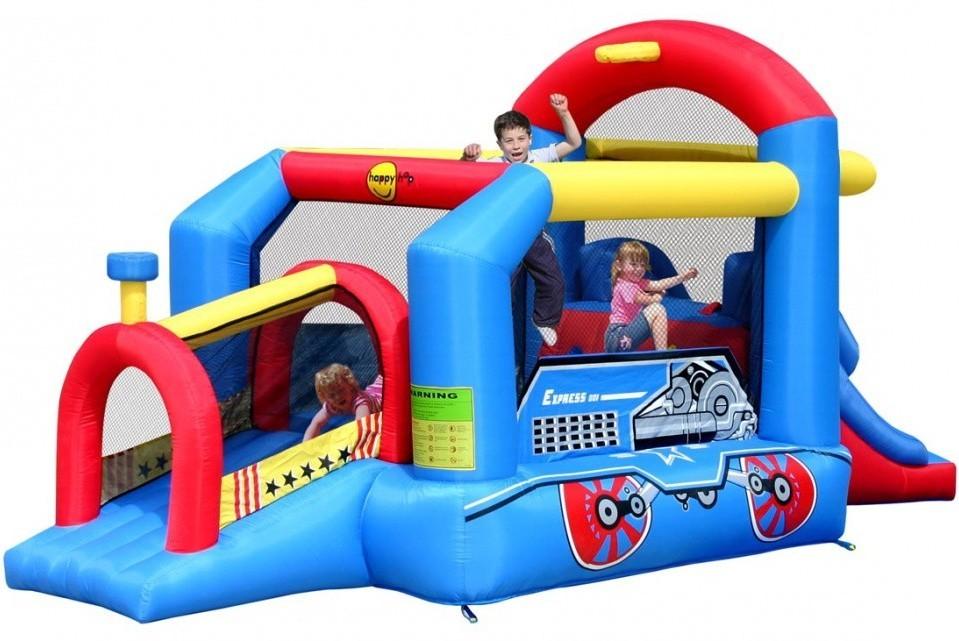 Детский надувной игровой центр Паравозик HAPPY HOP